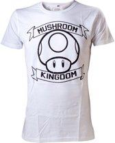 Nintendo T-shirt Wit Mushroom Kingdom Maat S