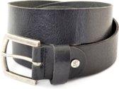 XXL Belts Heren,Damesriem Jeans 1392 - Zwart - 145 cm