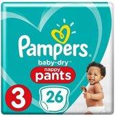 Pampers Baby-Dry Pants - Maat 3 (6-11 kg) - 26 luierbroekjes