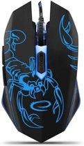 Optische USB Game Muis 6D Scorpio met LED - max DPI 2400