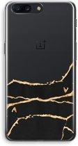 OnePlus 5 Transparant Hoesje (Soft) - Gouden marmer