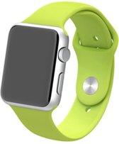 By Qubix Siliconen bandje - Apple Watch Series 1/2/3/4 (42&44mm) - Groen - S/M