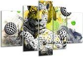 Glasschilderij Natuur | Groen, Zwart, Wit | 170x100cm 5Luik | Foto print op Glas |  F003123
