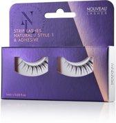 Nouveau Lashes - Strip Lashes Natural / Style 1 & lijm