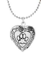Fashion Charm Jewelry Photo Frame met Cat Dog foot print