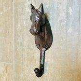 Gietijzer kapstok haakje van een paard / paardenhoofd