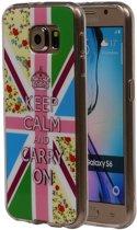 Keizerskroon TPU Cover Case voor Samsung Galaxy S6 Hoesje