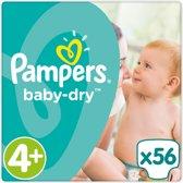 Pampers Baby-Dry - Maat 4+ (Maxi+) 10-15 kg - 56 Stuks - Luiers