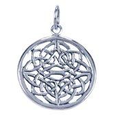 Zilveren Keltische knoop ketting hanger - 21 mm
