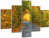 Glasschilderij Natuur | Groen, Bruin, Grijs | 100x70cm 5Luik | Foto print op Glas |  F001565