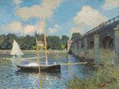 Claude Monet : The Bridge at Argenteuil (1874) Canvas Print