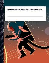 Space Walker's Notebook: Boys' and Girls Fun Handwriting and Printing Practice Notebook for Grades K-2-3