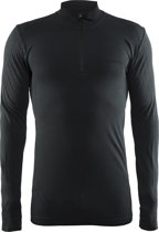 Craft Active Comfort Zip Sportshirt Heren - Black Solid
