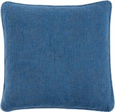 Kussenhoes stonewashed 50*50 cm Blauw   Q181.030BL   Clayre & Eef