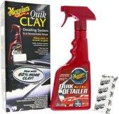 Meguiars G1116 Quik Clay Detailing System kit 80gr Clay Bar + 473ml Quik Detailer