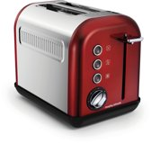 Morphy Richards Accents - 222011EE - Broodrooster 2 sleuven - Rood