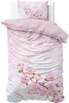 Sleeptime Katoen Sweet Flowers - Dekbedovertrek - Eenpersoons - 140x200/220 + 1 kussensloop 60x70 - Roze