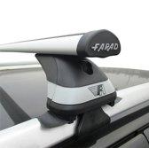Faradbox Dakdragers Kia Clarus 1997> open dakrail, 100kg laadvermogen, luxset
