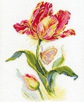 Borduurpakket Tulp Met Vlinder - Alisa