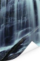 Waterval in het Nationaal park Fundy in New Brunswick Poster 40x60 cm - Foto print op Poster (wanddecoratie woonkamer / slaapkamer)