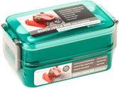 Stapel Lunchbox 6 Delig met Lepel & Vork| Lunchtrommel | Broodtrommel | Bento Box | Vershoudbakje | Div.Kleuren