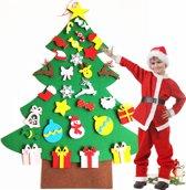 Kinder Kerstboom Vilt – Muurboom – DIY Kerstboom – Kerstboom met Klittenband – Zelf Maken - Inclusief Ornamenten – Kerst Cadeau - 100 cm
