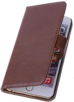 PU Leder Bruin Hoesje iPhone 6 (4.7 inch) Book/Wallet Case/Cover