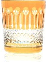 Kristallen whiskeyglazen  - Whiskyglas CHRISTINE - light amber - set van 2 glazen - gekleurd kristal