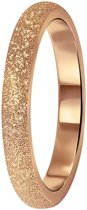 Lucardi - Stalen ring roseplated gediamanteerd