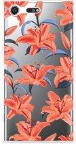 Sony Xperia XZ Premium Hoesje Flowers