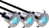 TRONIX 12V SYSTEEM LED set met 3 midi-grondspots, lichtkleur BLAUW | 149-022