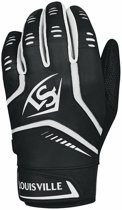 Louisville Omaha YOUTH Batting Gloves - Black - Youth M