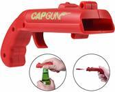 Bierdop schieter - Dopjes schieter - Dopjes pistool - Bieropener - Flesopener - Uniek cadeau - Bier cadeau - Cap Gun 2.0 - Rode Kleur