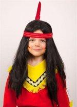 Indianen kindepruik met lang haar
