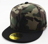New York kinder Baseball cap camouflage/ leger print in de kleur zwart