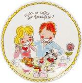 Blond Amsterdam Even Bijkletsen ontbijtbord - love - Ø 22 cm