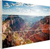 Grand Canyon Cape Royal  Hout 30x20 cm - klein - Foto print op Hout (Wanddecoratie)