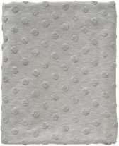 Cottonbaby Wiegdekentje - Dot melee grijs - 75x90 cm