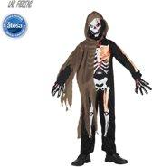 Kostuum halloween, skelet jongen T-2