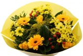 Biedermeier geel boeketje bloemen