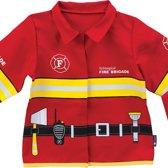 Imaginarium FIREMAN SUIT  - Verkleedkleding Brandweer - Brandweerjas voor Kinderen - 3  tot 7 jaar - Lange Mouw