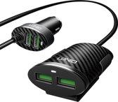 LDNIO - Auto Lader - 4 USB Poorten - Verdeeld in 2 modules