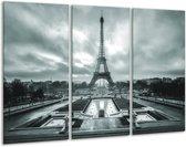 Glas schilderij Parijs, Eiffeltoren   Grijs, Groen   120x80cm 3Luik   Foto print op Glas    F006808