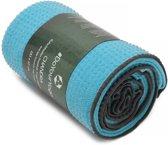 Yogahanddoek »Chandra« met siliconen noppen / Anti-Slip Premium Yoga towel/ 183 x 62 cm / Ideaal voor hot yoga / huidvriendelijk, antislip, absorberend, sneldrogend en zacht. In verschillende kleuren verkrijgbaar : Turquoise