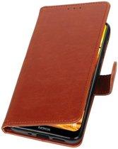 Bruin Pull-Up Booktype Hoesje voor Nokia 8.1