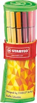 STABILO Pen 68 Rollerset Fan Edition - Groen
