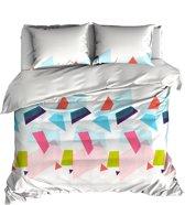 Colorful triangles - dekbedovertrek - 140x200/220 - eenpersoons - (140x200 -140x220)