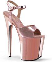 EU 41,5 = US 11 | FLAMINGO-809 | 8 Heel, 4 PF Ankle Strap Sandal