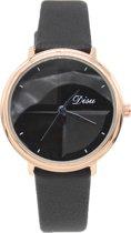 Horloge Dames - Kast 35 mm - Quartz - Zwart - Dielay