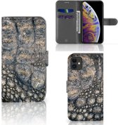 iPhone 11 Telefoonhoesje met Pasjes Krokodillenprint